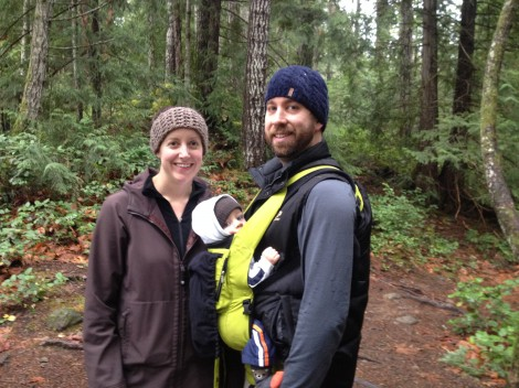 Jenn, Soren and Leif Bogwald at Colliery Dam Park, Nanaimo BC
